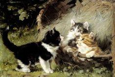 Julius Adam II (1852-1913, German) - THE GREAT CAT   THE GREAT CAT