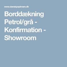 Borddækning Petrol/grå - Konfirmation - Showroom