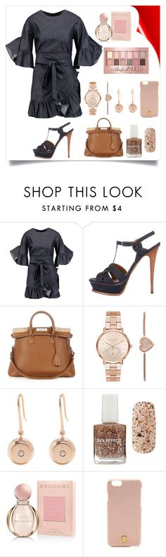 """Untitled #5"" by andrea-zepeda-1 ❤ liked on Polyvore featuring Goen.J, Yves Saint Laurent, Maison Margiela, Michael Kors, Aurélie Bidermann, Forever 21, Bulgari, Tory Burch and Maybelline"