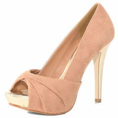 nude twist peep toe