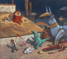 Development work for 'Rules of Summer' by Shaun Tan