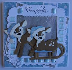 Marianne Design Cards, Bambi, Handmade Christmas, Smurfs, Deer, Christmas Cards, Projects To Try, Paper Crafts, Scrapbook