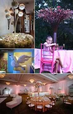 Flowerful Events is a full service floral design and event production company that specializes in art installations, floral design and accessories, tabletop design, custom event staging and furniture, lighting design, and complete transformations of event spaces. They are experts in Bar Bat Mitzvah decor.