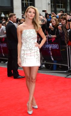 In Emilio Pucci on the red carpet at the UK Premiere of 'Hummingbird' at Odeon West End in London in 2013. See all of Rosie Huntington-Whiteley's best looks.