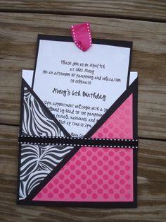 Zebra Print Party Invitation ideas | visit childrenspartynetwork com