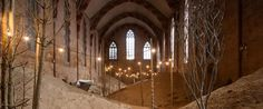 Garden of Whispers: Surreal Sand Dunes Fill 13th-Century Gothic... #weburbanist #arts #street_art