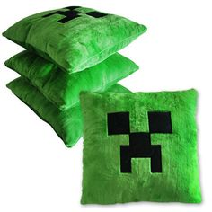 Minecraft Creeper Character Soft Toy Stuffed Animal Doll Green Monster Pillow 778988066850 | eBay