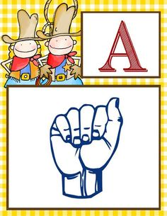 WESTERN Theme Decor / Alphabet Banner - American Sign Language A to Z, printables / ARTrageous FUN