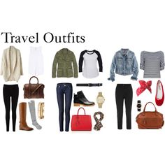 """Travel Outfits"" by diamte on Polyvore"