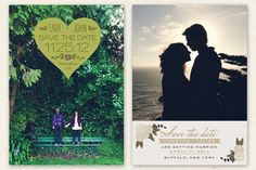 New Photo Save the Date cards from Love vs. Design