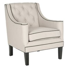 Safavieh Sherman Tufted Arm Chair - MCR4661D