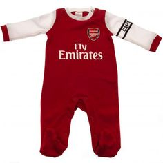 - baby sleepsuit- to fit 12 / 18 months main: cotton trim: cotton elastane- official licensed product Baby Football Kits, Football Team, Arsenal Fc, Clothing Tags, Professional Football, Leggings, Pyjamas, Premier League, Cotton Dresses