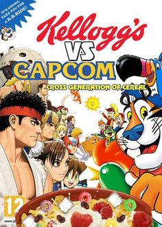 Kellogg's VS Capcom! Wait for Super Kellogg's VS Capcom dlc's and new versions.  #Capcom #StreetFighter #kellogg's