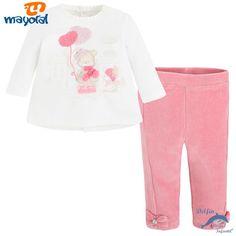Conjunto de bebe niña MAYORAL de camiseta y malla de pana