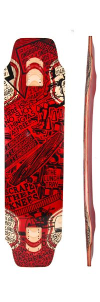 DB Longboards Lunch Tray Red Deck