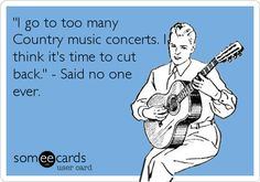 Seeing Keith Urban, Jason Aldean, Brad Paisley concert and Fan Jam in Vegas, Luke Byran...that's not too many right! :D