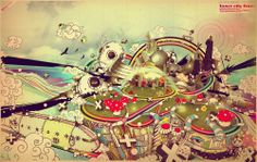 Colorful Illustration by Beaucoupzero