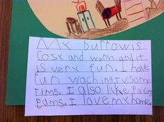Burrow descriptive writing