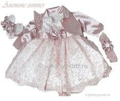 Set botez fetite -Anemone Girls Dresses, Flower Girl Dresses, Anemone, Victorian, Costume, Wedding Dresses, Summer, Fashion, Dresses Of Girls