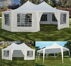 New White 29'x21' 22'x16' Decagonal Octagonal Gazebo Canopy Wedding Party Tent | eBay same cost as renting $240