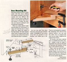 Door Mounting Aid - Cabinet Door Construction
