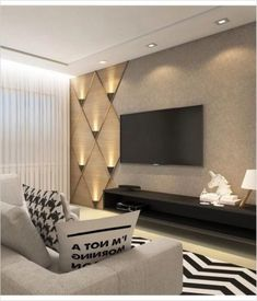 Wall Ideas Living Room 80 Amazing Living Room Tv Wall Decor Ideas and Remodel Living Room Interior, Home Interior Design, Design Interiors, Luxury Interior, Living Room Tv Unit Designs, Tv Wall Ideas Living Room, Living Room Walls, Bedroom Tv Unit Design, Lcd Unit Design