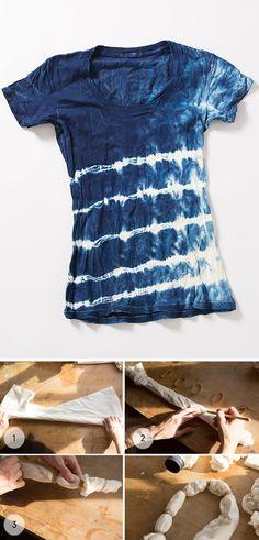 DIY Shibori indigo dye