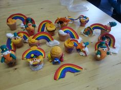 Rainbows, pots of gold, leprechauns and loads of other good ideas from everyone at our bank holiday workshops today!! Well done!!
