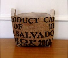Large Coffee Sack Baskets