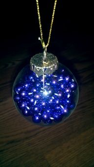You can collect absolutely anything and put it inside a glass ornament.