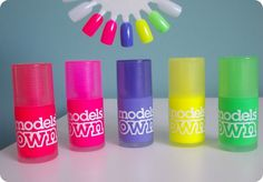 Models Own Ice Neons Collection Summer 2013 / via CosmeticCrave