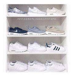 """""""my sneaker collection! nike or adidas? this is probably my most highly requested photo, i moved my heels off my shelf and took all my sneakers out of…"""" Women's Shoes, Cute Shoes, Me Too Shoes, Roshe Shoes, Golf Shoes, Shoes 2016, Dress Shoes, Nike Free Shoes, Nike Shoes Outlet"""