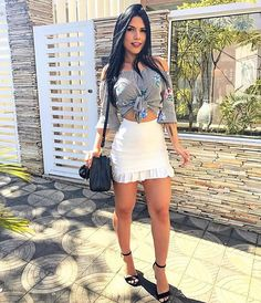 Image may contain: 1 person Girl Fashion, Fashion Outfits, Womens Fashion, Skirt Outfits, Cute Outfits, Cute Dresses, Short Dresses, Navy Blue Cocktail Dress, Moda Chic