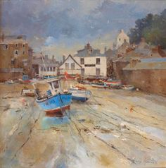 Port Isaac, Cornwall ( Oil on Canvas) David Howell, Port Isaac, Love Oil, Beach Art, Cornwall, Oil On Canvas, Photos, Sketches, Watercolor