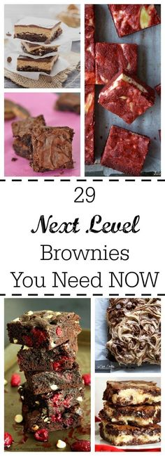 Brownies are perfect for any day that ends in Y. These 29 insanely delicious brownies are just what you need into your life RIGHT NOW to help you forget what day it is. Yummy Treats, Delicious Desserts, Sweet Treats, Dessert Recipes, Yummy Food, Oreo Dessert, Dessert Bars, Mini Desserts, Eclairs