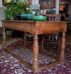 English pine refectory table circa 1850.