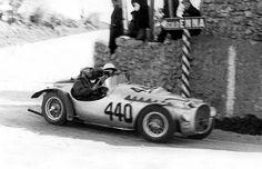 Vittorio Marzotto's heavily stripped Ferrari 212 Export with which he and Fontana won the Giro di Sicilia in 1951