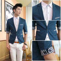 2013 Autumn men's slim blazer men's clothing personalized suit blazer Men US $32.90