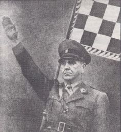 Ante Pavelić - Head of the Croatian Fascist Ustaše Party, a Nazi puppet government in Croatia. Guilty for systematic extermination of 30,000 Jews, about 29,000 Gypsies, and between 300,000 and 600,000 Serbs.