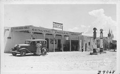 The Old Home of the Isleta Indians First Governor, Now El Pueblo Store, Owned and Operated by Julia Culver, His Great Granddaughter. St. Augustine, One of America's Oldest Churches on the Right, Isleta, New Mexico