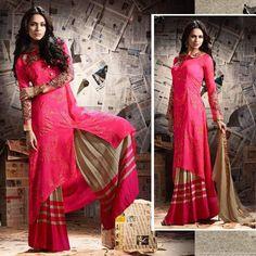 Bollywood Ethnic Designer Indian Pakistani Traditional Shalwar Kameez Plazo Pant