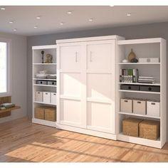 Bestar Queen Storage Murphy Bed   Wayfair