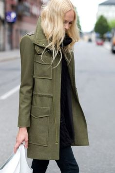 in desperate need of a winter jacket.. love this military style coat |Pinned from PinTo for iPad|