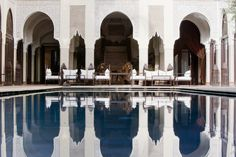 The Magical World of Nuxe at Relais & Châteaux's Villa Des Orangers in Marrakesh - A&E Magazine Hotel Riad, Secret Escapes, Nuxe, Hotels, Moroccan Lanterns, Moroccan Interiors, Cecile, Mademoiselle, Luxury Travel