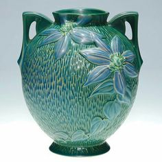 Roseville Pottery - Experimental - Clematis -  #AAPA