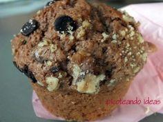 Muffins de choco con nueces