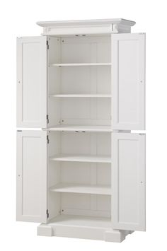 Best Kitchen Pantry Cabinet Free Standing White Wood Utility 400 x 300