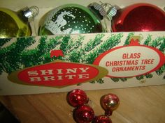 Glass Christmas Tree, Christmas Past, Vintage Christmas Ornaments, Vintage Holiday, Christmas Bulbs, Shiny Brite Ornaments, Vintage Advertisements, Vintage Toys, Etsy Store