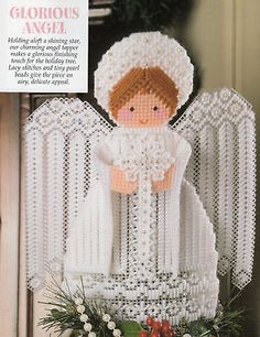 Best of Dick Martin Christmas Plastic Canvas Patterns Ornaments Angel