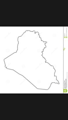 Iraq outline map tattoo